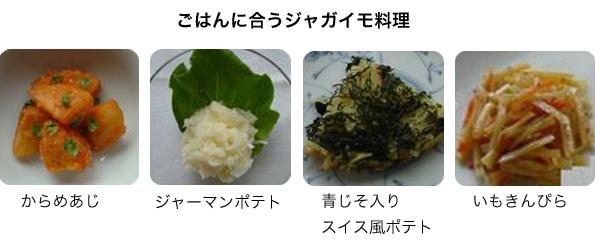 ご飯に合うジャガイモ料理